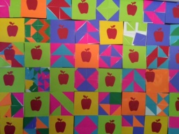 Picture of completed Fraction Quilt project