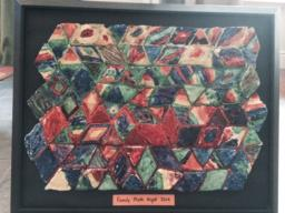 Picture of completed Salt Dough Tessellations project