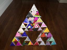 Picture of completed Sierpinski Pyramid project