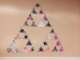 Picture of completed Sierpinski Triangle project