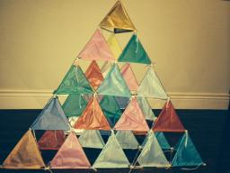 Picture of completed Tetrahedral Kite project